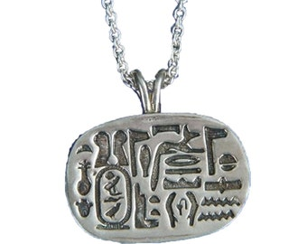 Cartouche of Cheops Sterling Silver Necklace