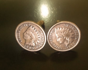Culflinks Indianhead pennys.Weddings or any formal events hand made.Real coins