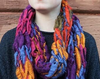 Knitted Infinity Snood Scarf