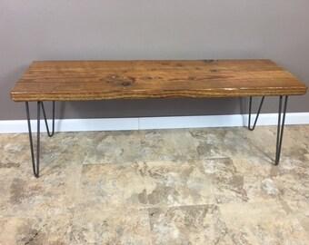 urban loft reclaimed wood bench