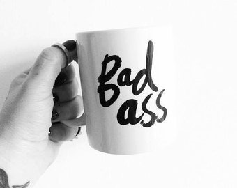 Bad Ass Scottish typography mug