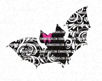 Halloween svg -  bat svg -  Fall svg - halloween svg files -  Silhouette studio-cutting file- commercial use svg
