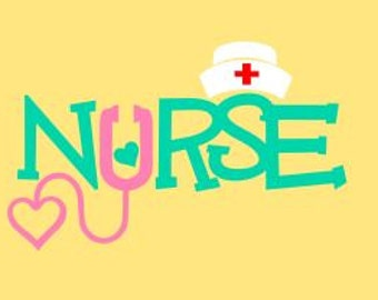Nurse SVG, Studio 3, DXF, PS, Ai and Pdf Cutting Files for Electronic Cutting Machines