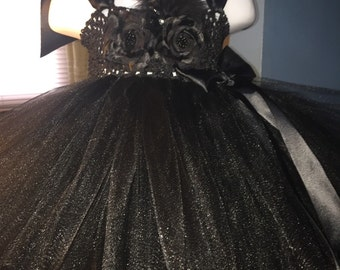 Black tutu dress, black formal tutu dress, black special occasion tutu dress