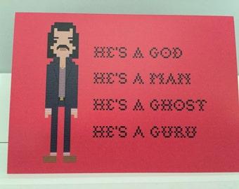 Nick Cave blank greeting card