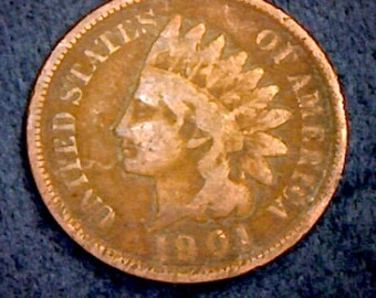 1901 Indian head penny in GOOD condition