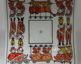 Kids Vintage Light Cover Circus Parade 1970's