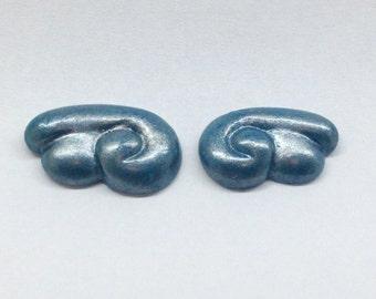 Wing Stud// 'Galaxy Sea'// Polymer Clay