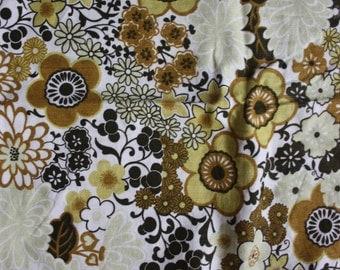 Vtg 60's Floral Curtains