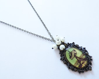Eiffel Tower Cameo Necklace CO080