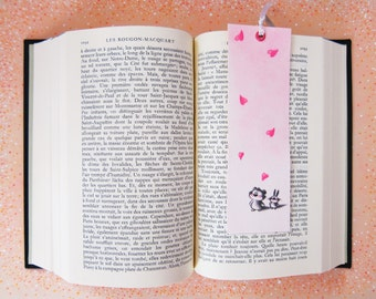 bookmark, love, hand made, cute, teddy bear and rabbit