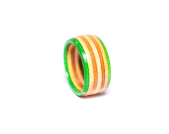 Recycled Skateboard Ring (lime)