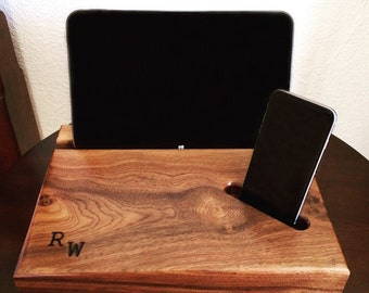 Personalized Docking Station - Personalized Gift - Tech Gift - Tech Organizer - iPad Dock - Android Dock -Desk Organizer - Gift for Him