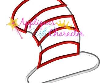 Doctor Seuss Cat Hat Embroidery Machine Design 5 Hoop sizes Instant Download