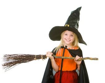 Kids Costume Witch Broom.  DIY Broom Making kit