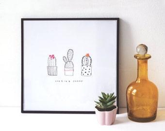Cactus Illustrative Print - 'Looking Sharp'