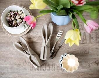 Serviettes de table set serviettes en tissu - lot de serviettes de table de mariage de 30 - serviette de table lin naturel - serviettes de table - serviette de table lin gris - Restaurant