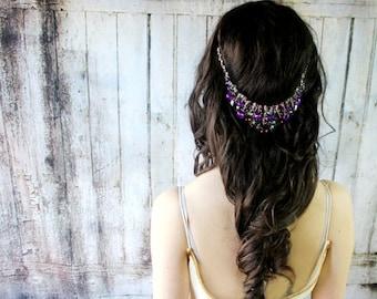 Bridal Hair Accessories, Bridal Headpiece, Wedding Headpiece, Wedding Hair Accessories, Head Chain, Wedding Headband