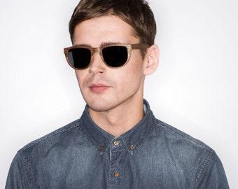 Vintage Style Mens Sunglasses, American Walnut Wood Eyewear, Polarized lenses   High quality Womens Sunglasses
