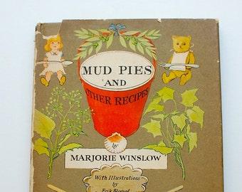 Mudpies and Other Recipes Marjorie Winslow Erik Blegvad 1961 first edition vintage children cookbook