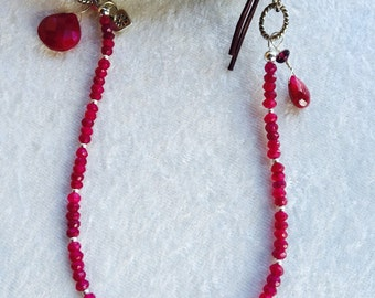 JULY's RUBY - Birthstone Necklace