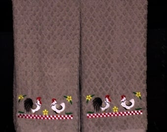 Kitchen Towels - Country Chickens
