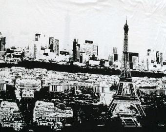 KNIT: Knit Basics Paris in white panel print.