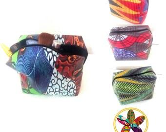 Ankara print cosmetic/makeup bag