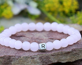 personalized Bracelet for her Childrens Bracelet Girls Bracelet personalized Jewelry Rose Quartz bracelet customized bracelet Girls Jewelry