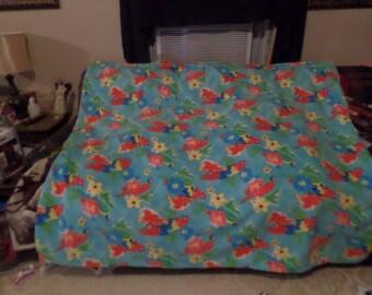 Tropical Parrot Fleece Blanket