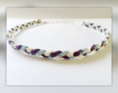 Purple kids braided diffuser necklace