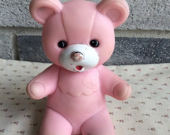 Vintage Bear Squeak Toy, Bear Squeaky Toy