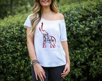 Alabama Elephant Bama Babe T-Shirt, Ladies, Baby, Toddler Sizes