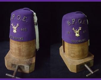 "Rare Art Deco Elks Lodge  ""FEZ"" ~ BPOE ~ Benevolent and Protective Order of Elks"