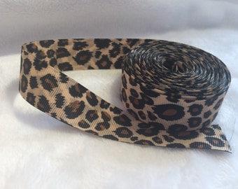 Doublesided Leopard Print Ribbon - per metre