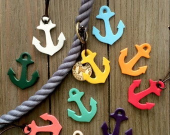 Leather Anchor Leash Charm- LARGE