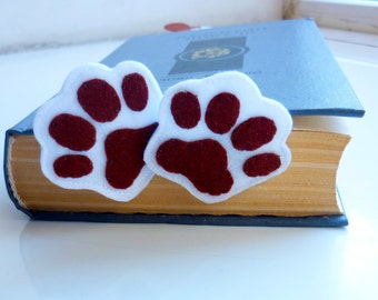 Original bookmark, funy bookmark, felt bookmark, dog bookmark, original gift