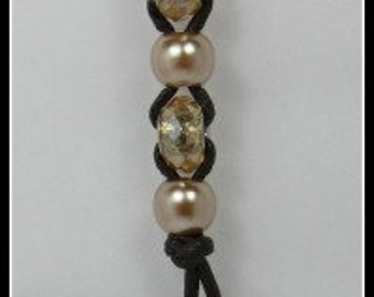 Keychain Copper and Brown Beaded