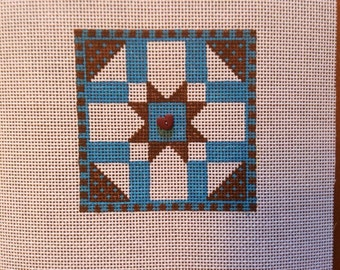 Quilt Star for you to needlepoint