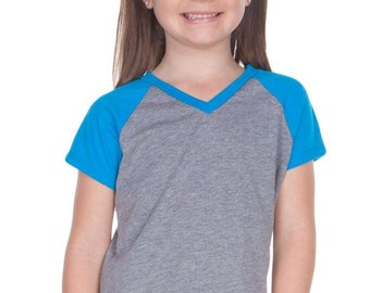 Kids Raglan Short Sleeve Top (baseball top)