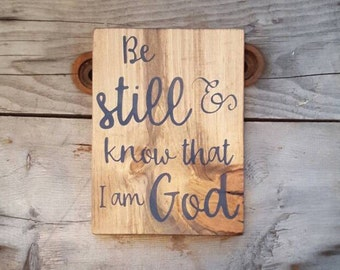 Scripture wall art, Be still and know,  Wood signs sayings, Bible verse wall art, Wood Home decor