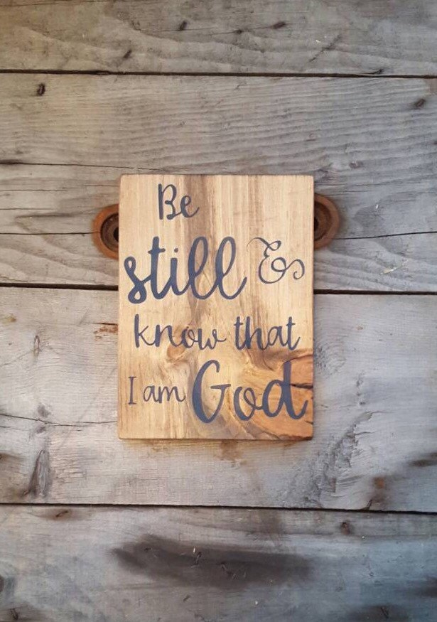 Wall Decor Signs With Sayings : Scripture wall art be still and know wood signs sayings