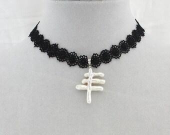 Pearl choker, black ribbon choker,pearl necklace, black velvet choker necklace,natural pearl necklace, black choker,choker necklace,WYJ-S504