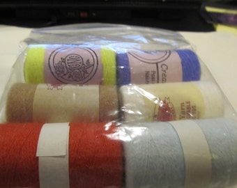 6 New Assorted Punch Needle Embroidery Thread
