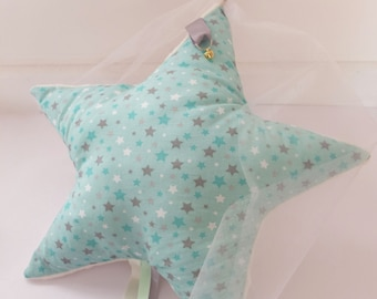 Mobile baby blankie Star Green - taupe