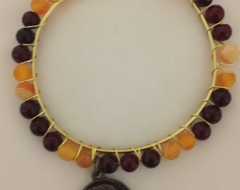 Colkege colors beaded bangles
