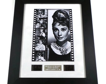 Breakfast At Tiffany's Film Cell Audrey Hepburn Vintage Memorabilia Framed or Unframed Gift