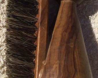 Vintage teak squirral brush