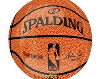 "Basketball Balloon, Basketball Theme, Birthday Party, Basketball Event, Sports Theme, Sports Fundraiser, Basketball Decoration, 16"""