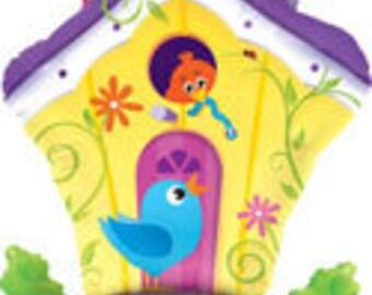 "Birdhouse Balloon, Bird House Balloon, Bird lover, Bird watching Club, Wildlife Theme, Bird Theme, Party Decoration, Party Decor, 35"""